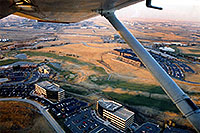 /images/133/2003-11-cessna-view1.jpg - #01360: view from 4 seater Cessna - practicing landings … Nov 2003 -- Centennial, Colorado