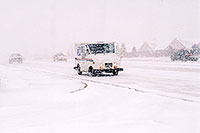 /images/133/2003-11-rosemont-snow-road2.jpg - #01380: US mail truck in November snow, along Yosemite Road in Lone Tree … Nov 2003 -- Lone Tree, Colorado