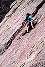 /images/133/2004-03-boulder-climber-v.jpg - #01413: climber in Boulder … March 2004 -- Boulder, Colorado