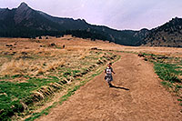 /images/133/2004-04-boulder-girl-running.jpg - #01430: hiking trail in Boulder … March 2004 -- Boulder, Colorado