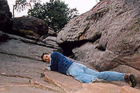 /images/133/2004-04-boulder-me-climbing.jpg - #01438: Boulder … March 2004 -- Boulder, Colorado