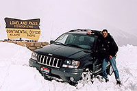 /images/133/2004-04-loveland-jeep1.jpg - #01461: my Jeep and I at Loveland Pass … April 2004 -- Loveland Pass, Colorado