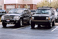 /images/133/2004-05-both-jeeps.jpg - #01502: my new Jeep Grand Cherokee replacing the Jeep Cherokee … May 2004 -- Remington, Lone Tree, Colorado