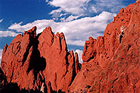 /images/133/2004-05-gardgods-climbers2.jpg - #01503: Red Rocks in Garden of the Gods … May 2004 -- Garden of the Gods, Colorado Springs, Colorado