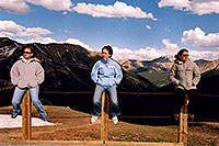 /images/133/2004-06-indep-3-poles.jpg - #01532: Aneta, Ewka and Ola at top of Independence Pass … June 2004 -- Independence Pass, Colorado