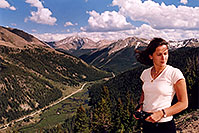 /images/133/2004-06-indep-twin-side2.jpg - #01536: La Plata Peak at 14,336 ft in the background … view from Independence Pass Road towards Twin Lakes … June 2004 -- La Plata Peak, Independence Pass, Colorado