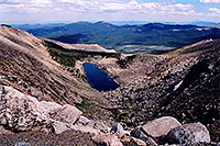 /images/133/2004-06-mtevans-lincoln-la1.jpg - #01570: view of Lincoln Lake from Mt Evans road … June 2004 -- Lincoln Lake, Mt Evans, Colorado