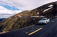 /images/133/2004-06-mtevans-road-cars3.jpg - #01581: view along Mt Evans road … June 2004 -- Mount Evans Road, Mt Evans, Colorado