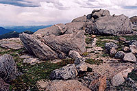 /images/133/2004-06-mtevans-rocks-view2.jpg - #01586: rocky meadows of Mt Evans … June 2004 -- Mt Evans, Colorado