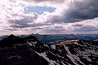 /images/133/2004-06-mtevans-top-view2.jpg - #01593: view from summit of Mt Evans … June 2004 -- Mt Evans, Colorado