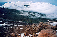 /images/133/2004-06-mtevans-top-view3.jpg - #01594: view from top of Mt Evans … June 2004 -- Mt Evans, Colorado
