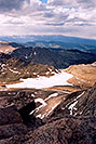 /images/133/2004-06-mtevans-topv-view2.jpg - #01597: view from top of Mt Evans towards Summit Lake … June 2004 -- Mt Evans, Colorado