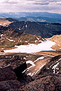 /images/133/2004-06-mtevans-topv-view3.jpg - #01598: view from top of Mt Evans towards Summit Lake … June 2004 -- Mt Evans, Colorado