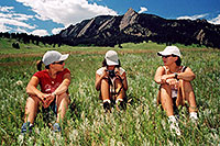 /images/133/2004-07-boulder-3meadow-sit.jpg - #01622: Aneta, Ola and Ewka hiking in Boulder … July 2004 -- Boulder, Colorado