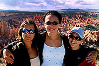/images/133/2004-07-bryce-3.jpg - #01623: Ola, Ewka and Aneta in Bryce National Park … my reflection in sunglasses … July 2004 -- Bryce, Utah