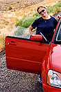 /images/133/2004-07-colo-aneta-car.jpg - #01666: Aneta with her red Subaru … Colorado / Utah border … July 2004 -- Colorado