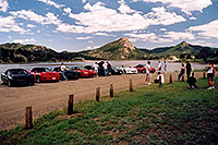 /images/133/2004-07-estes-transams7.jpg - #01669: black, red and white Pontiac TransAm cars at Estes Lake … July 2004 -- Estes Park, Colorado