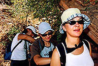 /images/133/2004-07-grand-girls-backpac.jpg - #01710: Ola, Aneta & Ewka along Bright Angel Trail … July 2004 -- Bright Angel Trail, Grand Canyon, Arizona