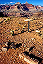 /images/133/2004-07-grand-plateau-sign-v.jpg - #01696: Plateau Point sign -- Plateau Point has a view of Colorado River of Grand Canyon … July 2004 -- Bright Angel Plateau Point, Grand Canyon, Arizona