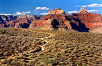 /images/133/2004-07-grand-plateau4.jpg - #01721: Ola and Ewka heading towards Plateau Point ahead … July 2004 -- Bright Angel Plateau Point, Grand Canyon, Arizona