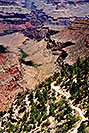 /images/133/2004-07-grand-view4-v.jpg - #01708: view down on Bright Angel Trail … July 2004 -- Bright Angel Trail, Grand Canyon, Arizona