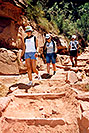 /images/133/2004-07-grand-walk1.jpg - #01740: Ewka, Aneta and Ola walking down Bright Angel Trail … July 2004 -- Bright Angel Plateau Point, Grand Canyon, Arizona