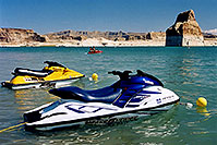 /images/133/2004-07-powell-jetskis1.jpg - 01792: jetskis at Lone Rock … July 2004 -- Lone Rock, Lake Powell, Utah