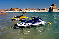 /images/133/2004-07-powell-jetskis2.jpg - #01795: jetskis at Lone Rock … July 2004 -- Lone Rock, Lake Powell, Utah