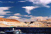 /images/133/2004-07-powell2-boats2.jpg - #01750: boats by Wahweap … Lake Powell … July 2004 -- Wahweap, Lake Powell, Utah