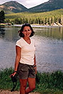/images/133/2004-07-rocky-phot-ola.jpg - #01802: Ola at Sprague Lake … July 2004 -- Sprague Lake, Rocky Mountain National Park, Colorado