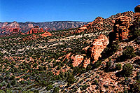 /images/133/2004-07-sedona-trail1.jpg - #01825: view of Sycamore Canyon in Sedona … July 2004 -- Sedona, Arizona