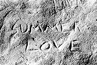 /images/133/2004-07-utah-return-summer-.jpg - #01799: Summer Love rock engraving ... somewhere along I-70 from Utah to Colorado … July 2004 -- I-70, near Colorado, Utah