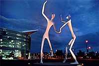 /images/133/2004-08-denver-figures2.jpg - #01826: Denver Figures at twilight (by Performing Arts Center) … August 2004 -- Denver Figures, Denver, Colorado