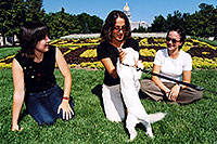 /images/133/2004-08-denver-oksana-dog.jpg - #01878: Oksana, Ola & Ewka in Denver … August 2004 -- Denver Flowers, Denver, Colorado