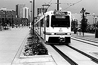 /images/133/2004-08-denver-train1.jpg - #01902: Streetcar leaving from Union Station in Denver … August 2004 -- Denver, Colorado