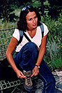 /images/133/2004-08-evergreen-ola1.jpg - #01880: Ola at a farm near Evergreen … August 2004 -- Evergreen, Colorado