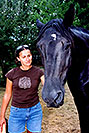 /images/133/2004-08-horses-ola-excalibu.jpg - #01913: Ola in Greenwood Village … August 2004 -- Greenwood Village, Colorado