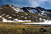 /images/133/2004-08-mt-evans-mtns2.jpg - #01956: Mt Evans peaks … view from Summit Lake … August 2004 -- Mt Evans, Colorado