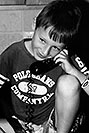 /images/133/2004-08-olas-trent-bw3.jpg - #01968: Trent on the phone … August 2004 -- Greenwood Village, Colorado