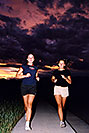 /images/133/2004-08-tennis-run-ola-ewka.jpg - #02019: Ewka & Ola running in Lakewood … August 2004 -- Lakewood, Colorado