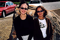 /images/133/2004-08-yello-lake1.jpg - #02101: Ewka & Ola by Yellowstone Lake … August 2004 -- Yellowstone, Wyoming