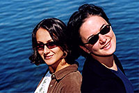 /images/133/2004-08-yello-lake4.jpg - #02081: Ola & Ewka by Yellowstone Lake … August 2004 -- Yellowstone, Wyoming