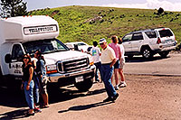 /images/133/2004-08-yello-people1.jpg - #02088: people near Fairy Creek … August 2004 -- Yellowstone, Wyoming