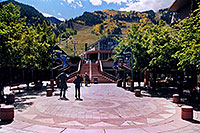 /images/133/2004-09-aspen-gondola.jpg - #02112: stairs up to Gondola in Aspen … Sept 2004 -- Aspen, Colorado