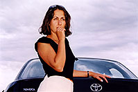 /images/133/2004-09-car-ola1.jpg - #02136: Ola by her black Toyota Camry in Englewood … Sept 2004 -- Englewood, Colorado