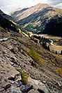 /images/133/2004-09-indep-drive-up01-v.jpg - #02112: road up Independence Pass from Twin Lakes side … Sept 2004 -- Independence Pass, Colorado