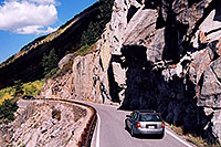 /images/133/2004-09-indep-road1.jpg - #02151: car heading to Aspen from Independence Pass … Sept 2004 -- Independence Pass, Colorado