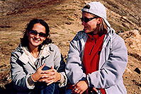 /images/133/2004-09-loveland-ol-an-sit.jpg - #02159: Ola and Aneta at Loveland Pass … Sept 2004 -- Loveland Pass, Colorado