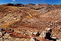 /images/133/2004-09-loveland-view3.jpg - #02166: West Slope: view east towards road of Loveland Pass … Sept 2004 -- Loveland Pass, Colorado