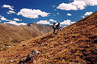 /images/133/2004-09-loveland-view6.jpg - #02169: Ola and Aneta walking on West Slope … Sept 2004 -- Loveland Pass, Colorado